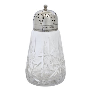 D. 1911 English Sterling Silver & Cut Crystal Shaker For Sale