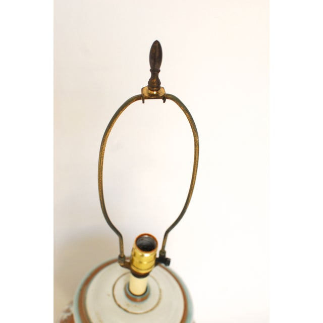 Faience Style Ceramic Urn Table Lamp - Image 4 of 6