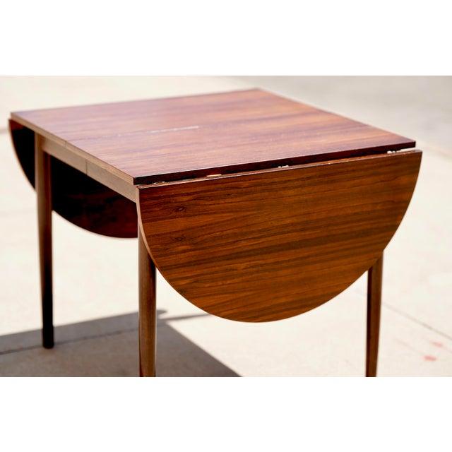 Mid-Century Modern Niels Kofoed for Hornslet Mobelfabrik Henry Rosengren Hansen Rosewood Dining Table- 5 Pieces For Sale - Image 3 of 9