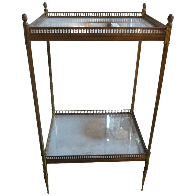 1940's French Maison Bagues Attributed Bronze Table For Sale