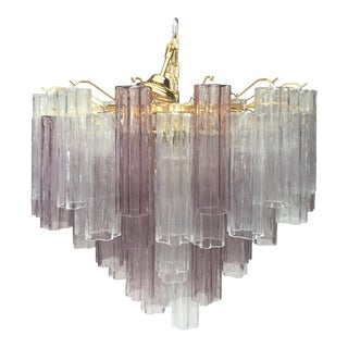 "Contemporary Murano Glass ""Tronchi"" Chandelier"