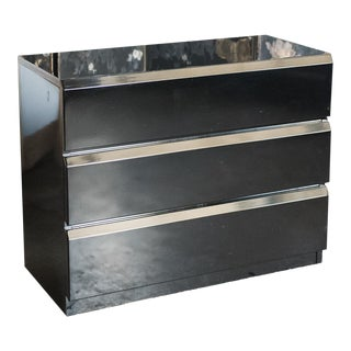 Black Lacquer Modern Chest by Lane For Sale