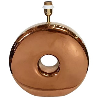 1990s Vintage Copper Donut Table Lamp For Sale