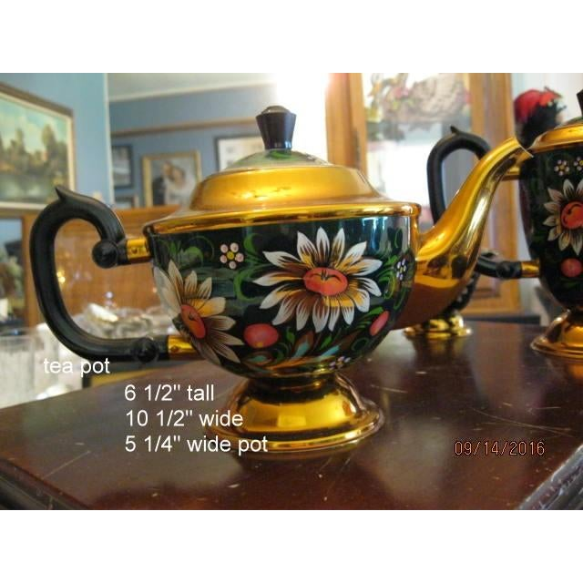 New Hand Painted Russian Vintage Tea and Coffee Set ~ Circa 1960's to 1970's - Image 5 of 11