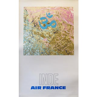 1971 Air France Poster, Inde (India) For Sale