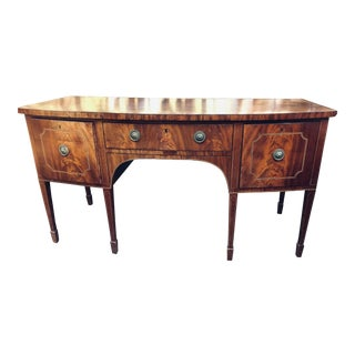 Antique Inlaid Bowfront Sideboard Buffet For Sale