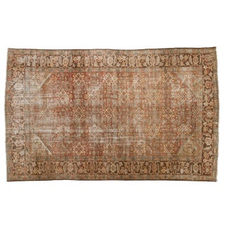 "Vintage Distressed Mahal Carpet - 6'6"" X 10'6"" For Sale"