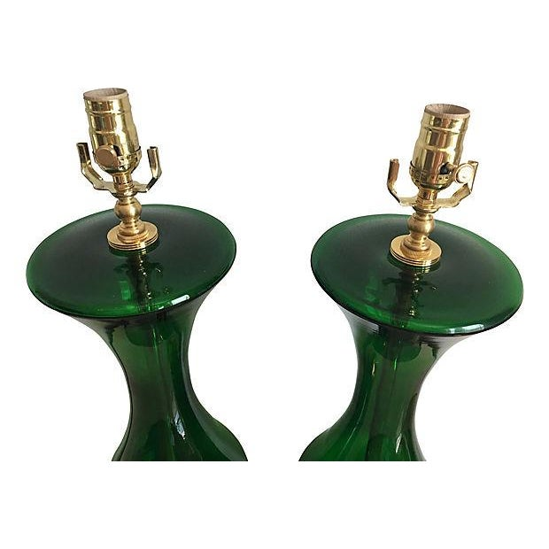 Hollywood Regency Rembrandt Blown Glass Lamps - a Pair For Sale - Image 3 of 6