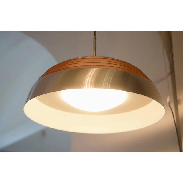 1970s Aluminum hanging lamp, 1970s For Sale - Image 5 of 10