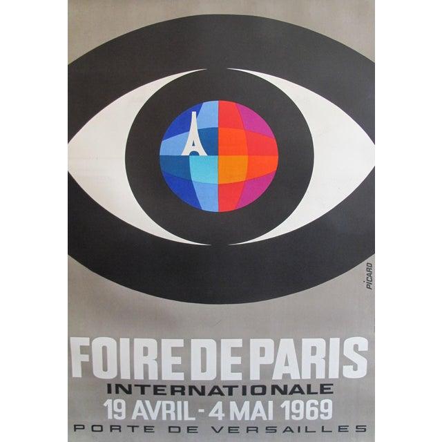 1966 Original Vintage French Poster - Foire De Paris International by Picaro (Large Version) For Sale