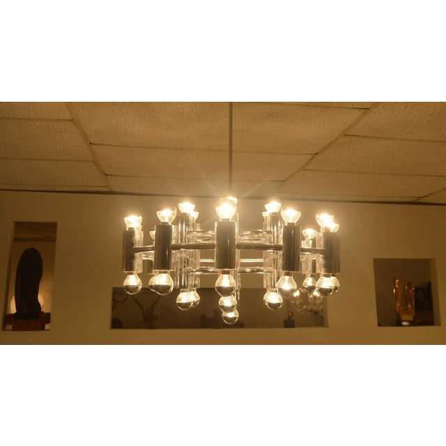 Extra Large Chrome-Plated Chandelier with 37-Light Fixtures For Sale - Image 6 of 9