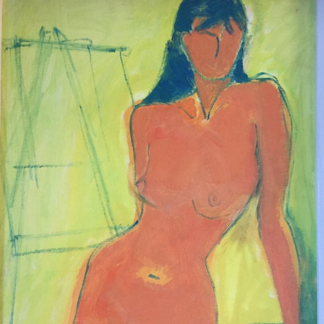 Vintage Mid -Century Female Nude Painting - Image 2 of 5