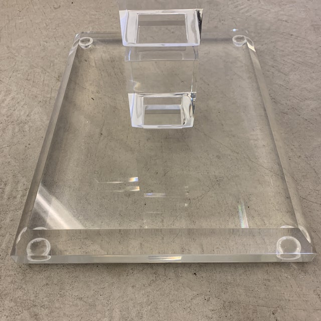 1970s Vintage Lucite Side Table For Sale - Image 5 of 11