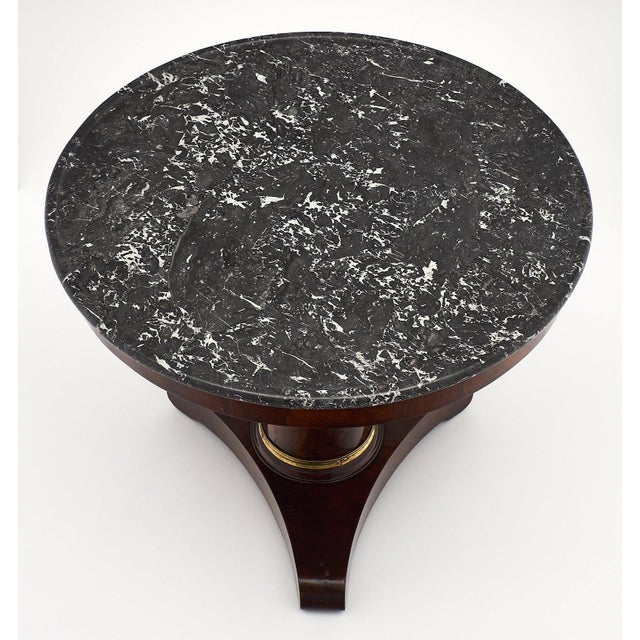 Late 19th Century Empire Period Gueridon Table With Gray Marble Top For Sale - Image 5 of 9