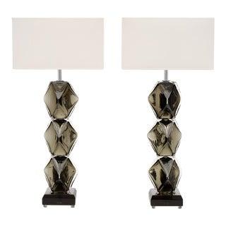 """Murano Glass """"Specchiato"""" Lamps by Alberto Dona For Sale"""