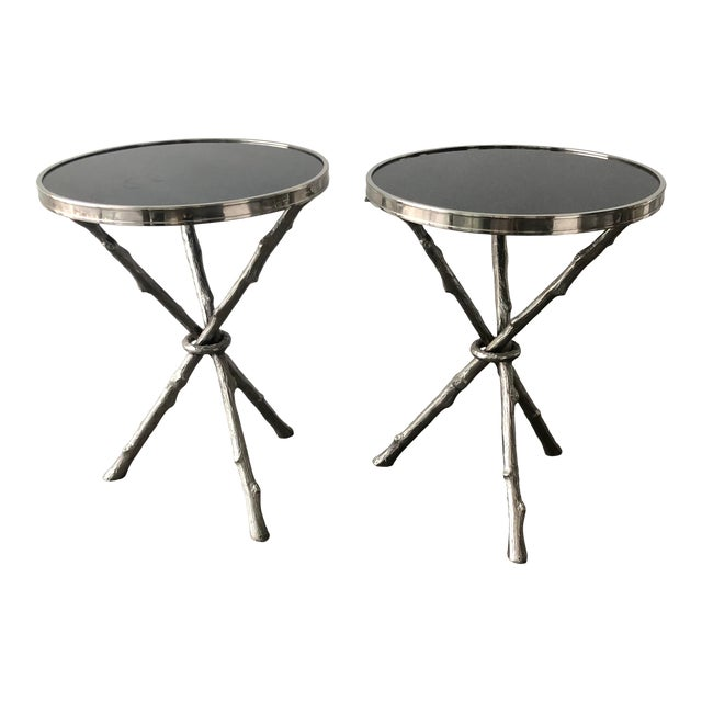 Twig Branch Tripod Accent Tables - a Pair For Sale