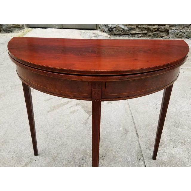 Antique Rosewood Hepplewhite Card Table For Sale - Image 4 of 13