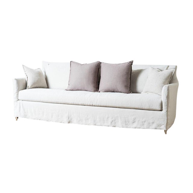 Incredible Modern White Linen Victor Sofa Alphanode Cool Chair Designs And Ideas Alphanodeonline