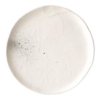"""Contemporary Handmade White """"Splatter"""" Dinner Plate by FisheyeCeramics 10"""" For Sale"""