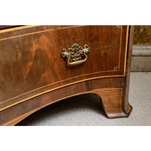 American Mahogany Serpentine Chest For Sale - Image 9 of 10