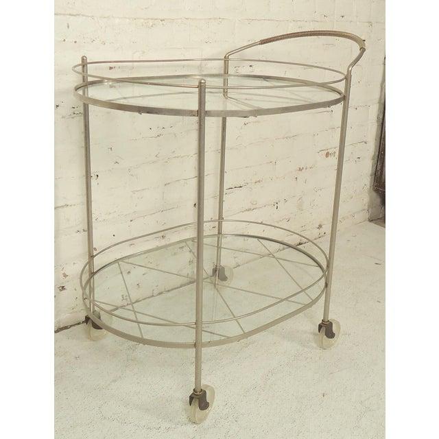 Italian Mid Century Style Tea Cart For Sale - Image 4 of 6