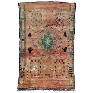 Vintage Moroccan Zemmour Zaer Rug - 6′3″ × 9′11″ For Sale