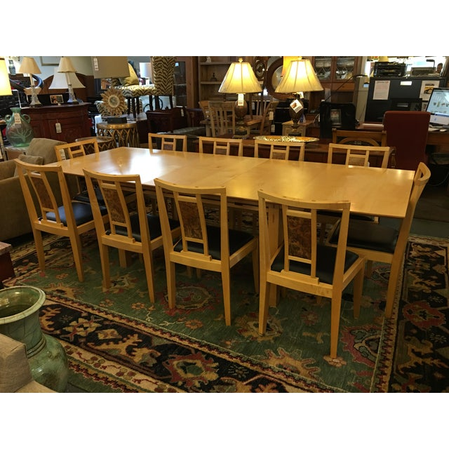 Robert Stangler Argus Dining Table & McCormick Chairs - Set of 11 - Image 2 of 11
