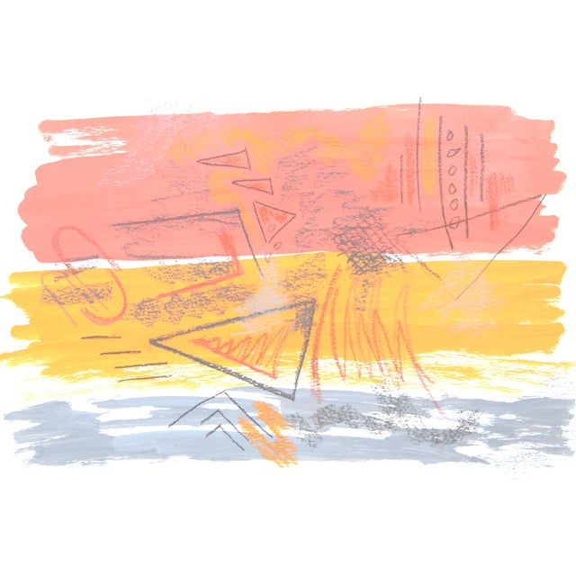 """""""Sun and Surf #5"""" Abstract Painting by Cleo - Image 4 of 4"""