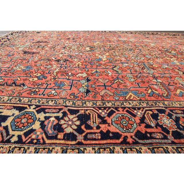 """Apadana - Vintage Persian Heriz Rug, 9'4"""" x 12'5"""" - Image 6 of 7"""