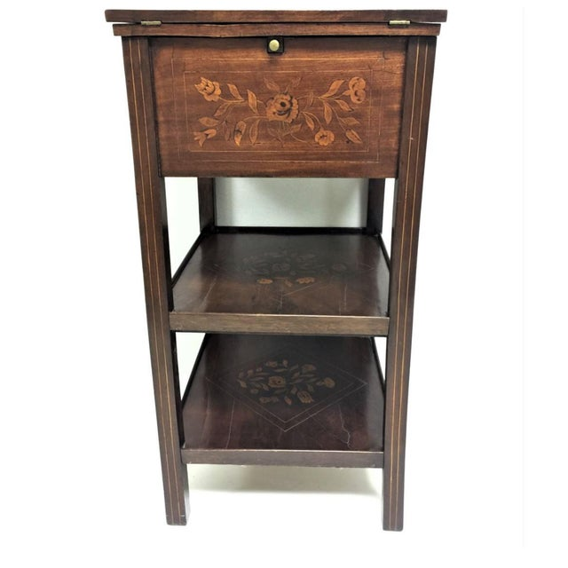Antique Marquetry Inlaid Dressing Table For Sale - Image 6 of 13