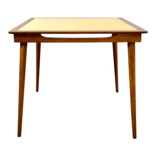 Mid Century Modern Stakmore Walnut Folding Table For Sale