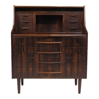 Scandinavian Modern Rosewood Secretary Desk For Sale