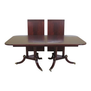 Traditional Henkel Harris Flame Mahogany Model Dining Table For Sale