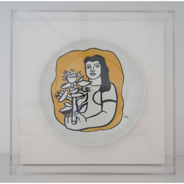 Vintage Framed Fernand Leger Porcelain Plates - a Set of 4 Different in Lucite Shadowbox Frames For Sale In West Palm - Image 6 of 13