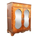 Image of Late 19th Century Napoleon III Glass Front Tulipwood and Kingwood Cabinet For Sale