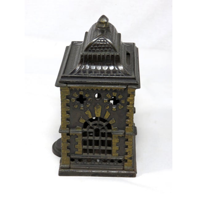 1880s Antique Cast Iron Coin Bank For Sale In Boston - Image 6 of 7