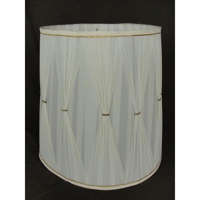 Vintage Mid-Century Modern Cloth Lamp Shade - Image 4 of 7