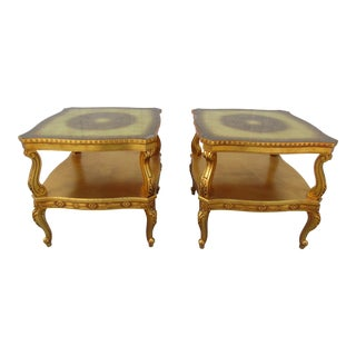 20th Century Hollywood Regency French Side Tables - a Pair For Sale