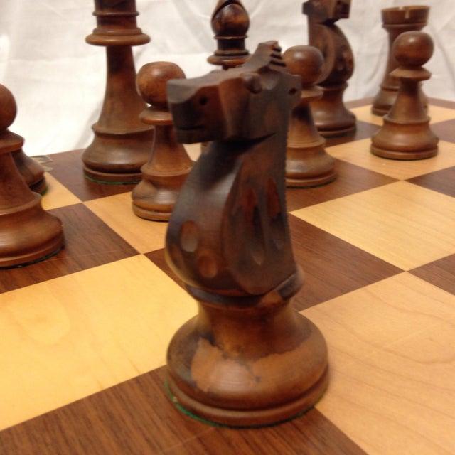 Vintage Drueke & Sons Chess Set in Walnut For Sale In San Francisco - Image 6 of 8