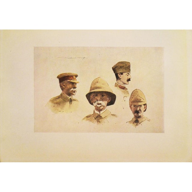 1900 - 1909 1901 M. Menpes, Lord Roberts and Stuff Original Lithograph For Sale - Image 5 of 6