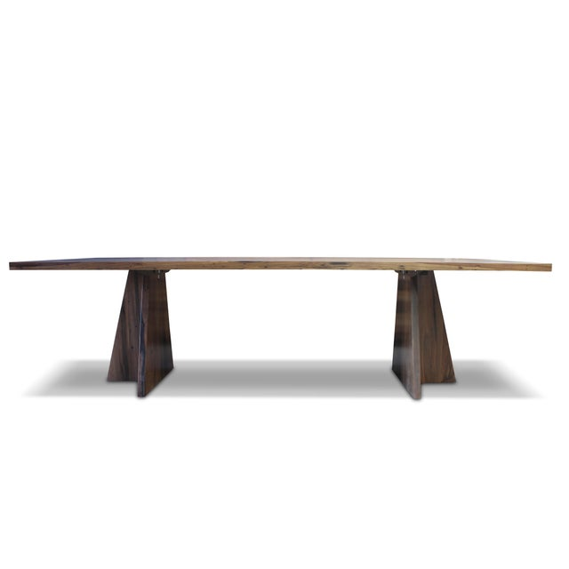 Costantini Solid Argentine Rosewood Twin Pedestal Luca Table For Sale In New York - Image 6 of 8