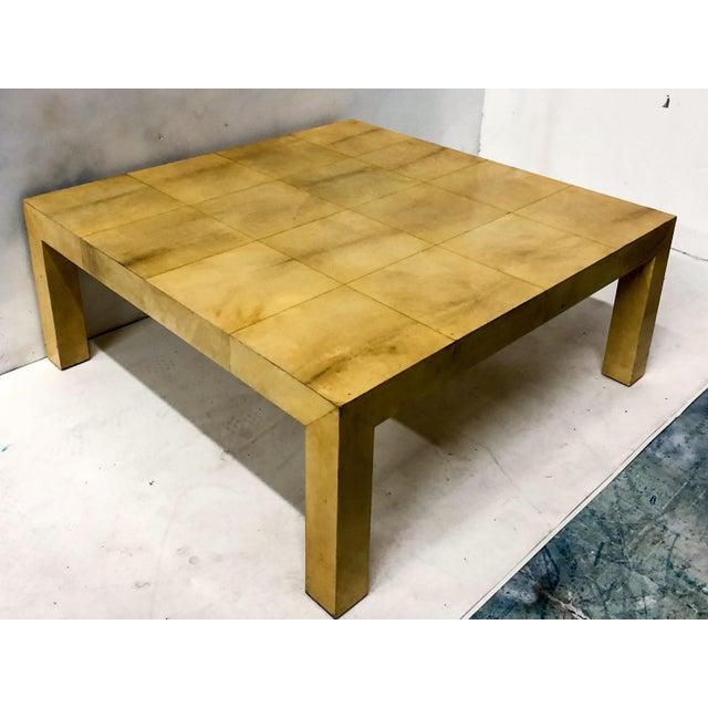 Karl Springer Karl Springer Modern Lacquered Goatskin Coffee Table For Sale - Image 4 of 5