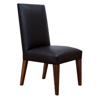 Custom Leather Vaughn Dining Chair - Set of 6 For Sale