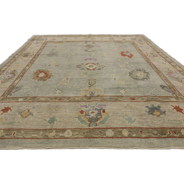 """Contemporary Contemporary Turkish Oushak Rug - 8'00"""" X 10'04"""" For Sale - Image 3 of 9"""