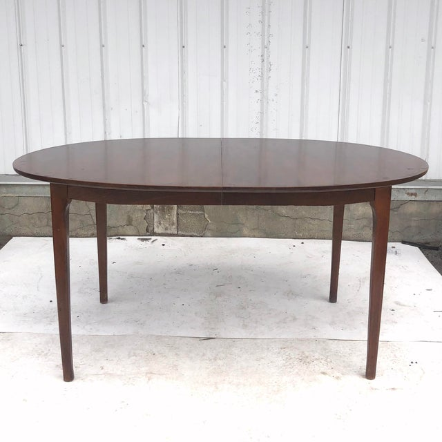 Mid-Century Dining Set With Large Table and Six Chairs For Sale - Image 4 of 13