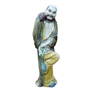 1910 Chinese Taoist Immortal LI Tieguai Shiwan Mudman Figure For Sale
