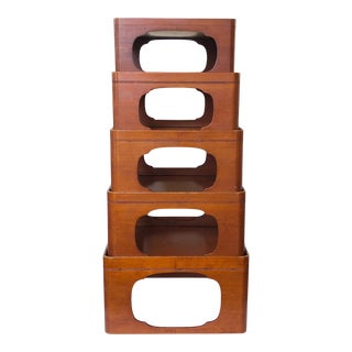 Japanese Nesting Table Stands, - Set of 5 For Sale