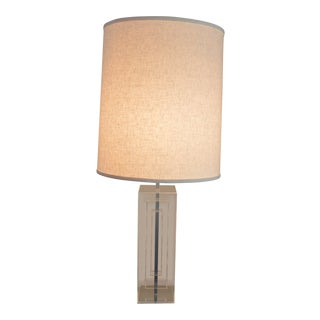 Mutual-Sunset Modernist Lucite Table Lamp For Sale