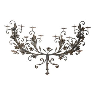 19c Hand-Forged Standing Candelabra For Sale