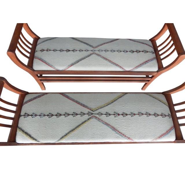 Custom Ottoman/Bench Upholstered with Turkish Kilim at 1stdibs |Kilim Ottoman Bench